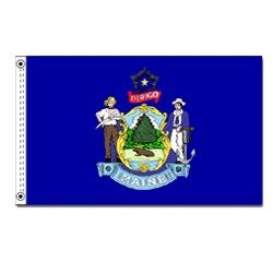 Annin Flagmakers Flagge Maine State 2x3 ft. 100% Made in USA to Official State Design Specifications -