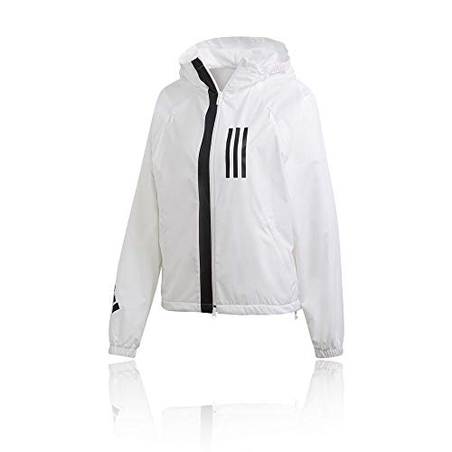 adidas Damen W WND FL Jacket, White, L