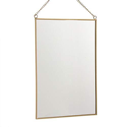 Eideo Home Espejo Rectangular Oro 20x30 cm