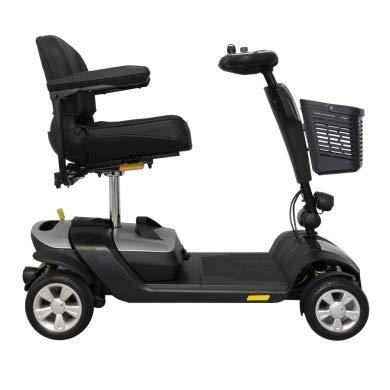 INTERMED Scooter Elettrico SC-100 Color - Rosso Metallizzato - Scooter Elettrico per disabili e Anziani con Quattro ammortizzatori - Ripiegabile - Conforme normativa CE