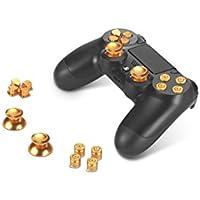 Supremery Playstation 4 DualShock 4 pulsanti in alluminio Cappelli Thumbsticks ricambio Accessori per PS4 (proiettile d'oro)