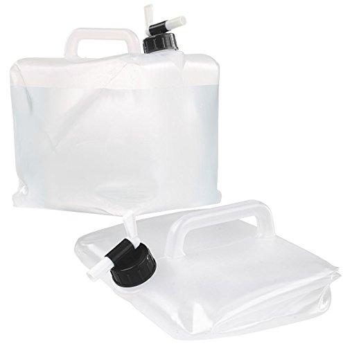 Semptec Urban Survival Technology Wassertank: Faltbarer Wasserkanister mit Zapfhahn, 10 Liter, ideal für Trinkwasser (Wasserkanister Camping)