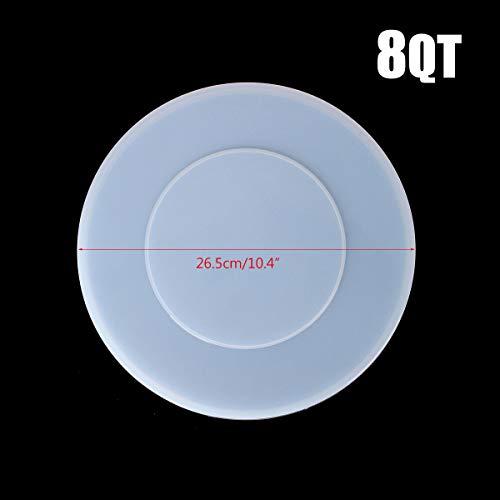ChaRLes 3/5/6 / 8Qt Silikonabdeckung Behälter mit innerem Deckel Spritzwassergeschützte Abdeckung für Instant Pot - # 3 -