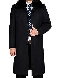 Herren mantel schwarz fell