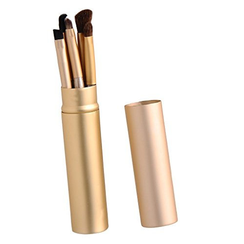 5Pcs Makeup Cosmetic Eye Pinceaux Pinceau fard à paupières Eye Brow Kit Pro Tools Or
