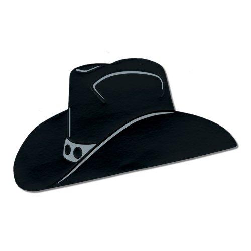 Beistle - 55471-BK - Fleuret Chapeau de cowboy Silhouette - pack de 24