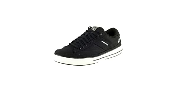 e54244348e94 Skechers SK51033 Mens Arcade Chat Lace Up Casual Shoes Footwear Black White  12  Amazon.co.uk  Shoes   Bags