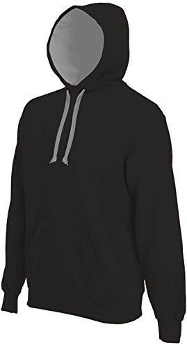 Kariban -  Maglione  - Basic - Maniche lunghe  - Uomo Black-Fine Grey (Solid)