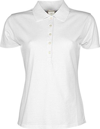 TJ145 Ladies Luxury Stretch Polo White