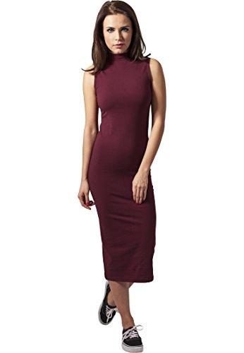 Ladies Stretch Jersey Turtleneck Dress burgundy XL (Rock Trend Womens Nike)