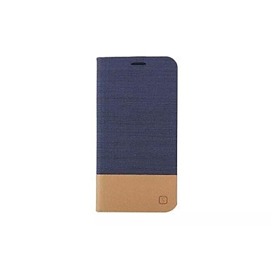 HLY-CASE Gute Leistung Flip Canvas Ledertasche mit Brieftasche Card Slot Inhaber für Samsung Galaxy, Einfach zu bedienen (Farbe : Dunkelblau, Kompatible Modellen : Galaxy S6 Edge)