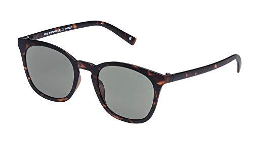 Le Specs Fine-Specimen Sonnenbrille Verspiegelt Herren Braun (1902027 Matte Tort): Rechteckig + Glasfarbe Grün-Khaki-Mono + UV-Schutz UV400