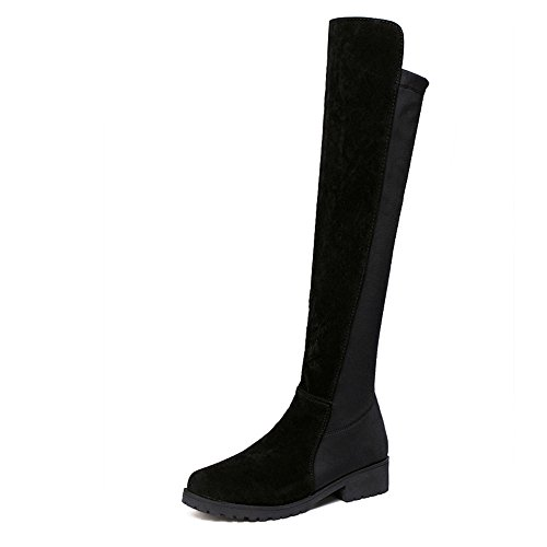Knie Reitstiefel (VECDY Damen Schuhe, Stiefel High Heels Sexy Frauen über Knie Stretch Oberschenkel hohe Slouchy Flache Ferse Stiefel Schuhe Warme Stiefel Mode Partei Stiefel Mode Schuhe)