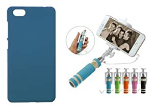 Toppings Hard Case Cover With Mini Selfie Stick For Vivo X5 Pro - SkyBlue