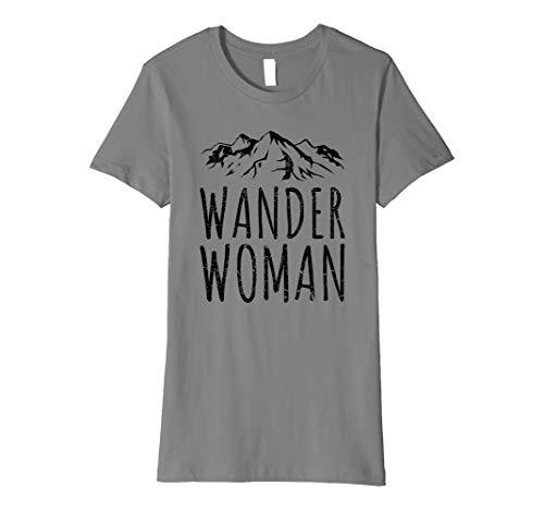 Damen WANDER WOMAN T-Shirt | Trekking Frauen Mountains Retro Lady