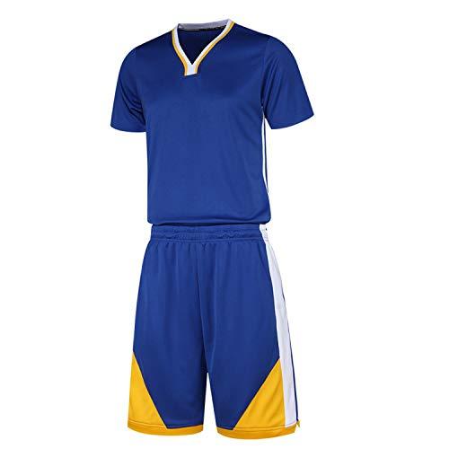 Blue Basketball Anzug Männer Kurze Ärmel Hemd gefüttert Hosen Match Jersey XXL - Jersey Gefütterte Hose