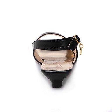 LvYuan Da donna-Sandali-Ufficio e lavoro Formale Casual-Club Shoes-Basso-PU (Poliuretano)-Nero Blu Rosa Bianco Black