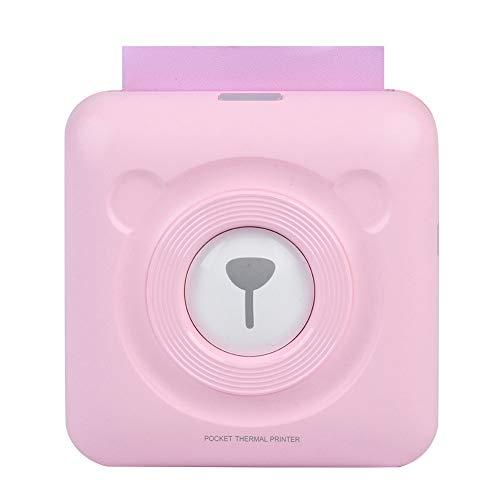 Eboxer Stampante Termica Wireless per ricevute Bluetooth da 57MM Stampante Mini Nota Portatile con Etichetta Tascabile, Ricarica USB per Android iOS Windows(Rosa)