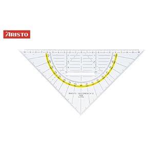 Aristo Geo-Dreieck (mit Griff, Plexiglas, 225 mm) glasklar