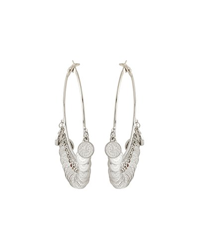 Voylla Silver Plated Earrings Dangled With Coin Detailing  available at amazon for Rs.219