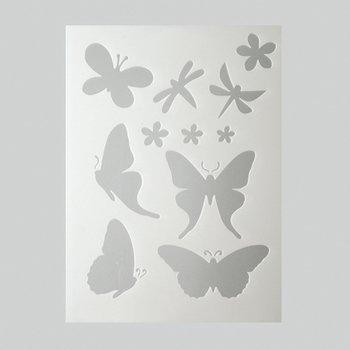 efco Schmetterlingsschablone in 11Designs, Kunststoff, transparent, A5