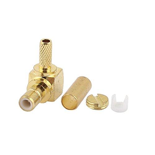 Rechtwinklig SMB Männlich Crimp Stecker für RG174 RG179 RG316 Kabel (Smb-männlich)
