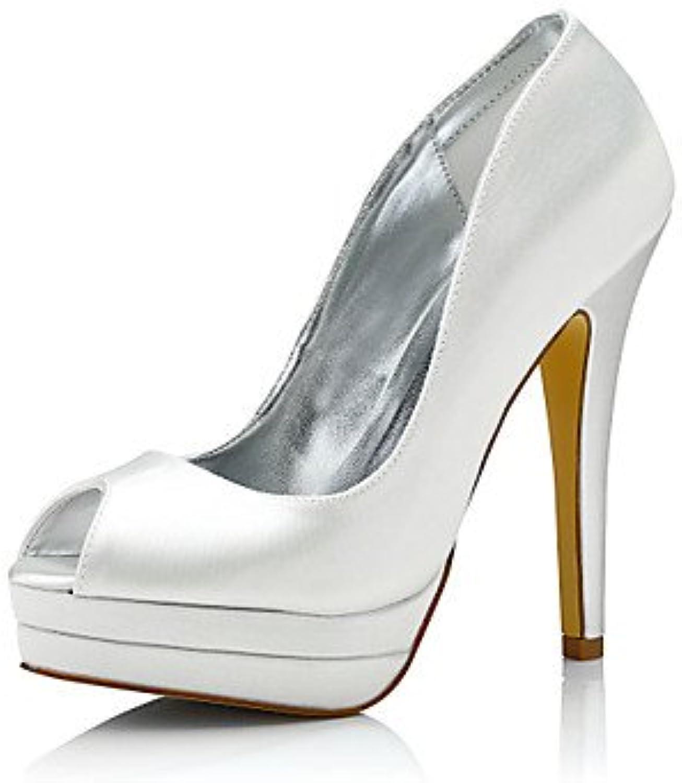 La Mujer Tacones Zapatos Club Comfort Dyeable Shoes Seda Primavera Otoño Boda Oficina Exterior &Amp; Carrera Parte...