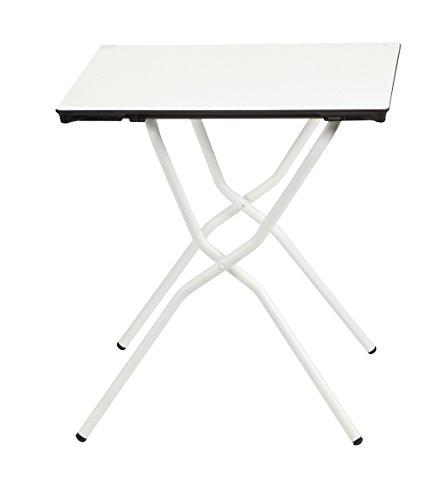 Lafuma LFM2590-7718 klappbarer Gartentisch, Anytime, 68 x 64 cm, Weiß (Klapp-tische Für Partys)