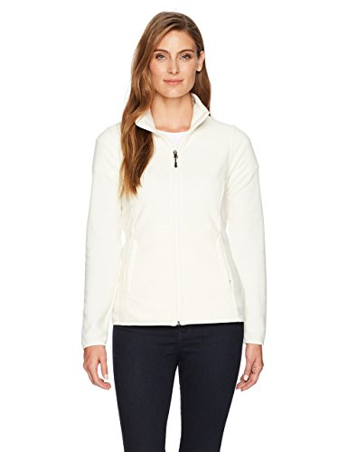 Amazon essentials Damen Fleece-Jacke mit Reißverschluss,Weiß (ivory snow), Medium