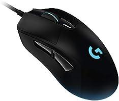 Logitech G403 HERO 16K, mouse gaming, LIGHTSYNC RGB, leggero 87 g + 10 g opzionale, cavo intrecciato, 16.000 DPI,...