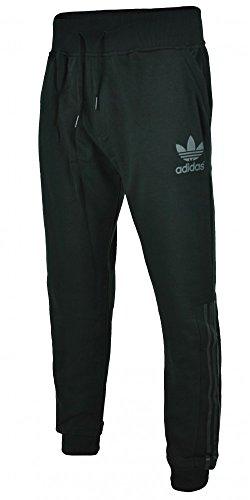 Adidas VT Fleece Pant pantaloni Trefoil uomo pantaloni della tuta sportiva nero, Sizes:M