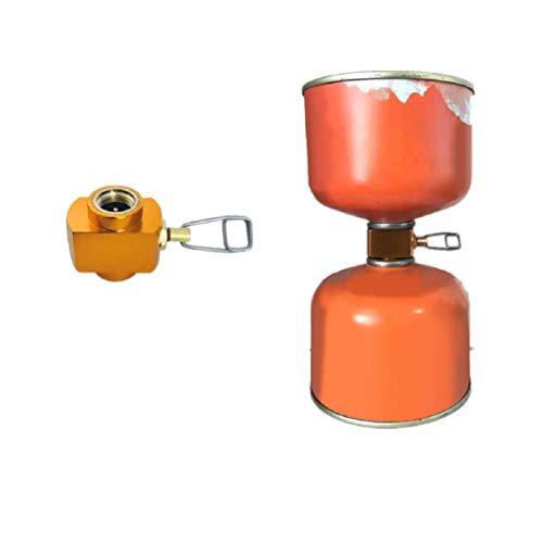 Propan-gas-kanister (Vaycally Gasadapter, Gasflaschen-Inflationsventil Außengelenk Flacher Gastankadapter Adapter zum gegenseitigen Aufblasen Campingkocher-Zubehör Kanister-Gas-Konverter-Schalthebel)