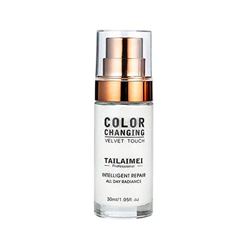 Luckhome Flawless Primer Concealer Foundation In Einem Für EIN Perfekt Farbwechsel Makeup Base Nude Face Liquid Abdeckdeckel Aufhellen Erwärmender Flüssiger Der Hautgrundierung (Weiß) -
