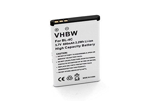 vhbw Li-Ion Akku 600mAh (3,7 Volt) für Olympia Outdoor Free, Vox Colour Handy Telefon Wie BBA-07, BK-BL-4C