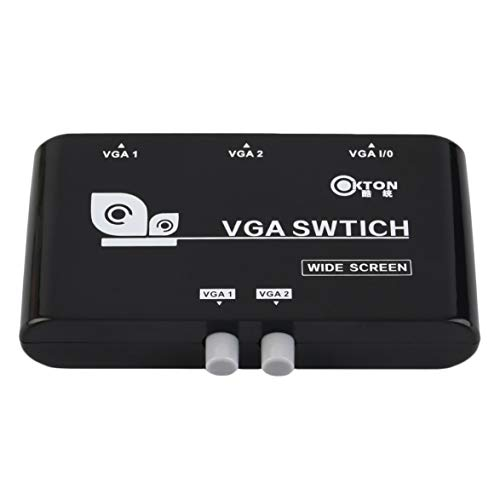 Kongqiabona 2 In 1 Out VGA/SVGA Manuelle Freigabe Wahlschalter Umschalter Box Schwarz VGA-Schalter Für LCD PC Notebook - Svga Lcd