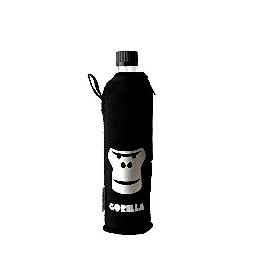 Dora´s Glasflasche mit Neoprenbezug 500 ml (Gorilla)