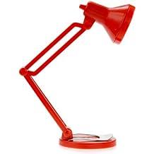 Mustard NG 6008R - Lámpara de lectura para libros con clip, color rojo