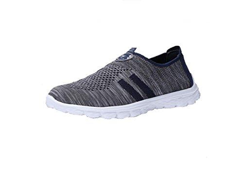 Mesh respirant l'été chaussures couple loisirs sports chaussures surface respirante chaussures occasionnelles grey blue