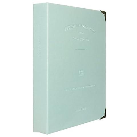 [Fujifilm Instax Album Photo] Woodmin 120 Poches PU Cuir Coil Album Photo pour Polaroid 3-pouce films, Titulaire de la Carte(Vert)