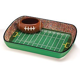 Football Stadium Chip And Dip Sports Serving Set by Full 90 Chip Und Dip-set
