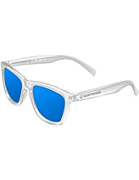 NORTHWEEK Kids Seabright - Gafas de Sol para Niños Polarizadas, Unisex, Translúcido/Azul