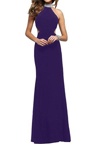 ivyd ressing Femme Moderne col montant rueckenfrei pierres Étui ligne Party robe Prom Lave-vaisselle robe robe du soir Violet