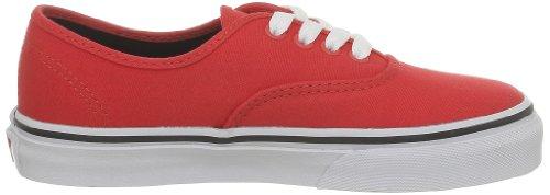 Vans T Authentic, Baskets mode mixte bébé Rouge (Fiery Red/Black)