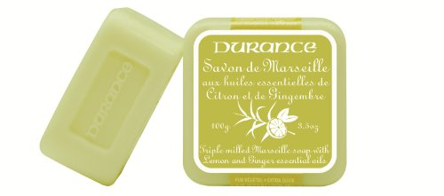Durance en Provence : Seife 'Savon de Marseille' Zitrone & Ingwer 100 g (Zitronen-seife)