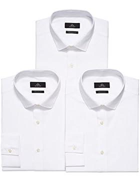 next Hombre Pack De Tres Camisas - Corte Pitillo Puño Simple