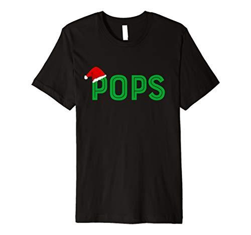 Herren Pops Opa Weihnachten Santa Familie Passende T Shirt