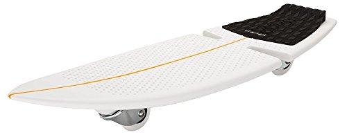 Este monopatín Razor RipSurf, diseñado para parecerse a una tabla de surf real, será perfecto para que su hijo juegue, se vaya de aventura o aprenda los trucos más geniales en la calle. Con dos ruedecillas inclinadas de 360º y una plataforma ligera, ...