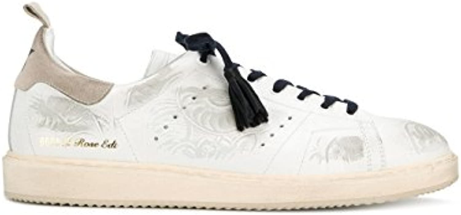Golden Goose Herren G32MS631TEX Weiss Leder Sneakers