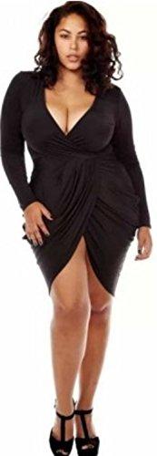 HarrowandSmith - Robe - Moulante - Manches Longues - Femme 2 xlarge