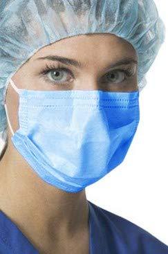 Mascarilla Quirúrgica 3 Capas Desechable 50 Unidades 99, 6% Filtración Resistente al Agua (Azul)